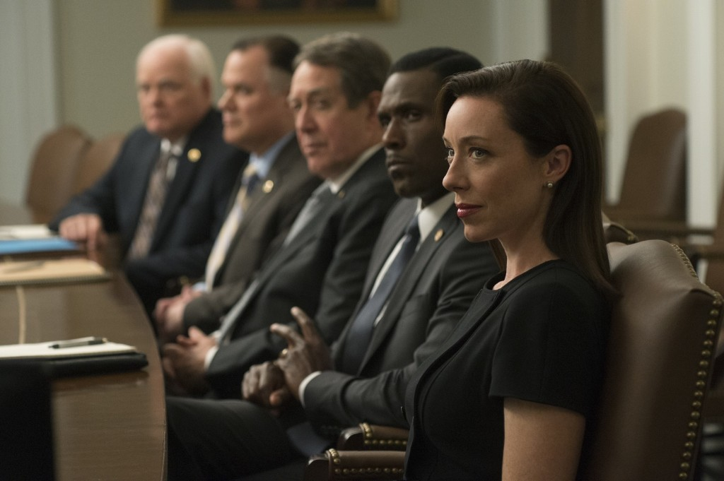 Molly Parker in House of Cards, Season 3. David Giesbrecht/Netflix