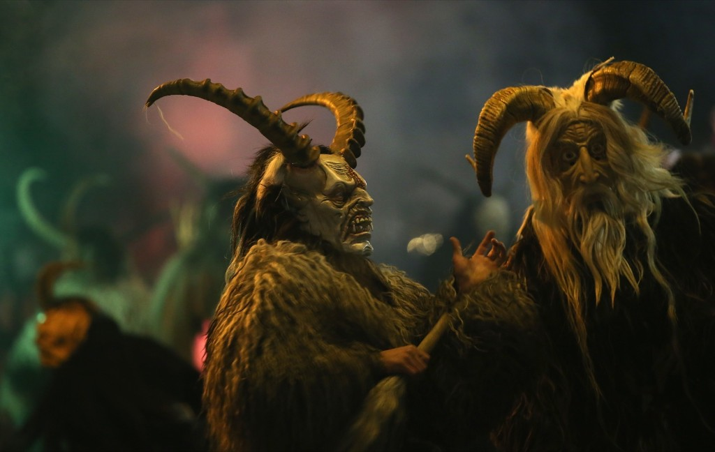 Participants dressed as the Krampus creature walk the streets in search of delinquent children during Krampus night Friday in Neustift, Austria. Krampus has been a part of central European alpine folklore going back at least a millennium. Sean Gallup/Getty Images