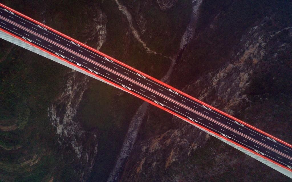 The Beipanjiang bridge, connecting Guizhou and Yunnan provinces, in China. China Daily/via REUTERS