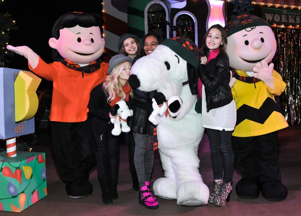 Olivia Holt, Bailee Madison, China Anne McClain, and Kelli Berglund attend Snoopy's Merriest Tree Lighting at Knott's Berry Farm on Saturday in Buena Park, Calif. Richard Shotwell/Invision/AP