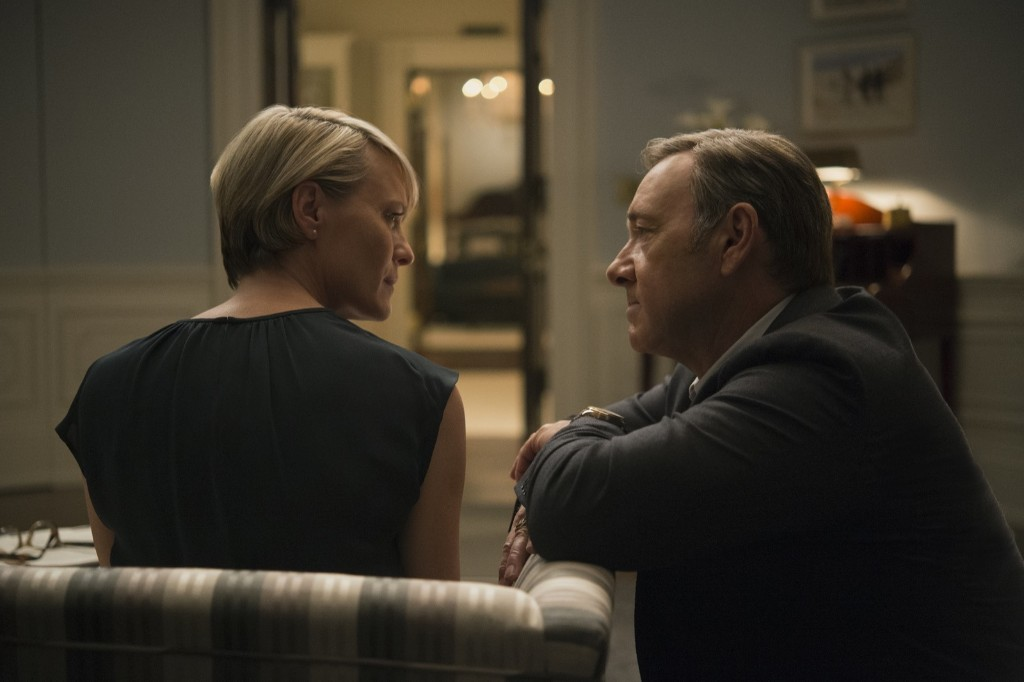 Robin Wright and Kevin Spacey in House of Cards, Season 3. David Giesbrecht/Netflix