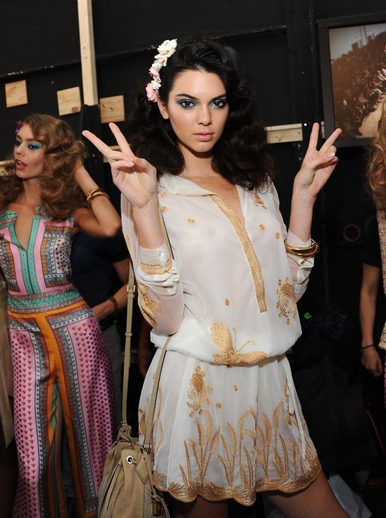 Kendall Jenner backstage during Diane Von Furstenberg Spring 2016 New York Fashion Week at Spring Studios. Desiree Navarro/WireImage