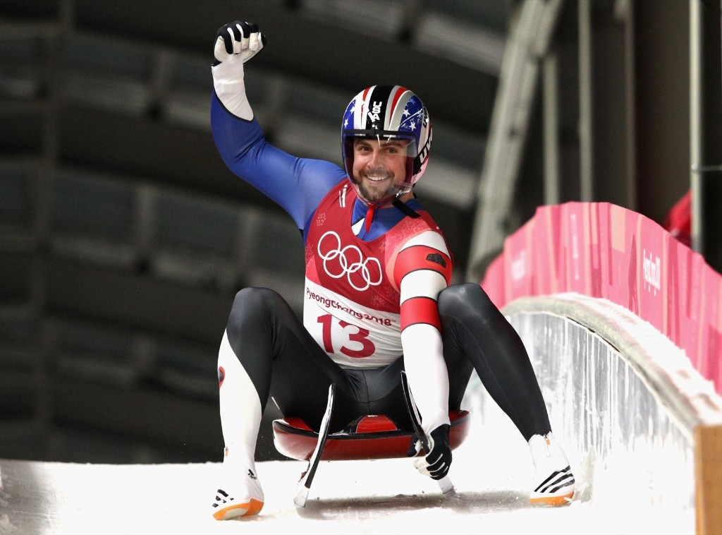 Chris Mazdzer of the U.S. won the silver medal in men's singles luge. Adam Pretty/Getty Images
