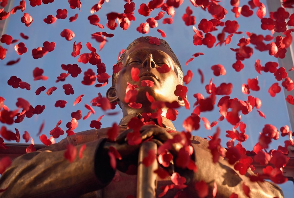 The Every Man Remembered statue in George Square, Glasgow, Scotland. Jeff J Mitchell/Getty Images)