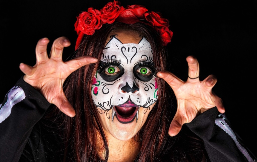 Victoria Garcia as Catrina, which was created by cartoonist Jose Guadalupe Posada, famous for his illustrations of skeletons and skulls. OMAR TORRES/AFP/Getty Images