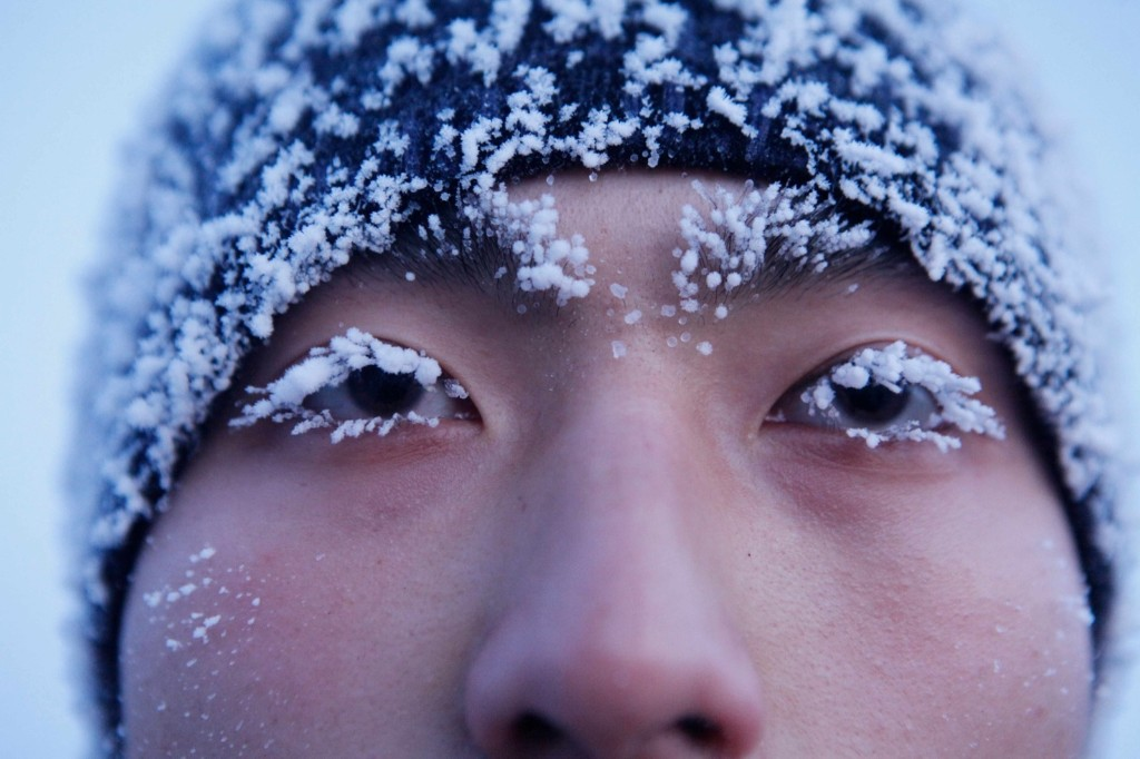 Frontier guards training in temperatures of minus 30 celsius in Heihe, Heilongjiang province of China. ChinaFotoPress/ChinaFotoPress/Getty Images
