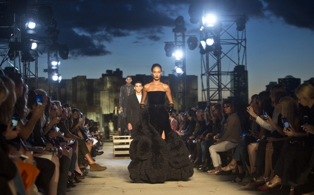 Fashion from the Givenchy Spring 2016 collection during Fashion Week in New York. AP Photo/Bebeto Matthews