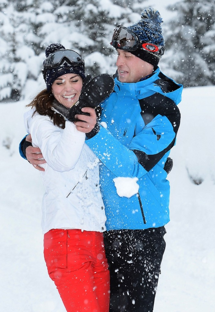Catherine, Duchess of Cambridge and Prince William, Duke of Cambridge enjoy a short private skiing break in the French Alps. John Stillwell/WPA Pool/Getty Images