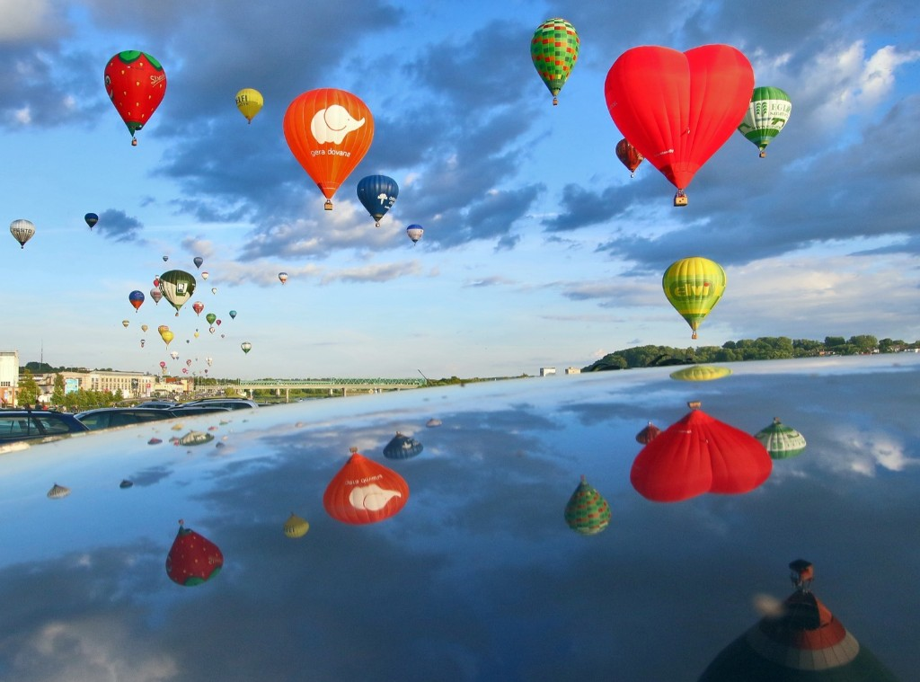 The International 100 Hot Air Balloon Fiesta Wind of Freedom to celebrate a century of Lithuanian independence. PETRAS MALUKAS/AFP/Getty Images