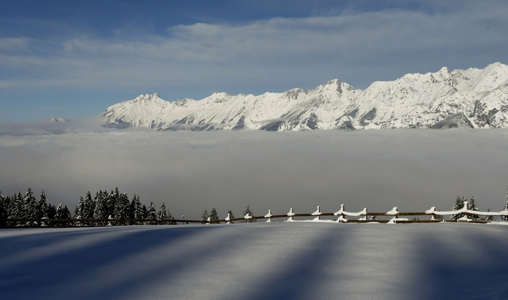 Fog covers the Inntal valley in Tulfes, Austria. REUTERS/Dominic Ebenbichler
