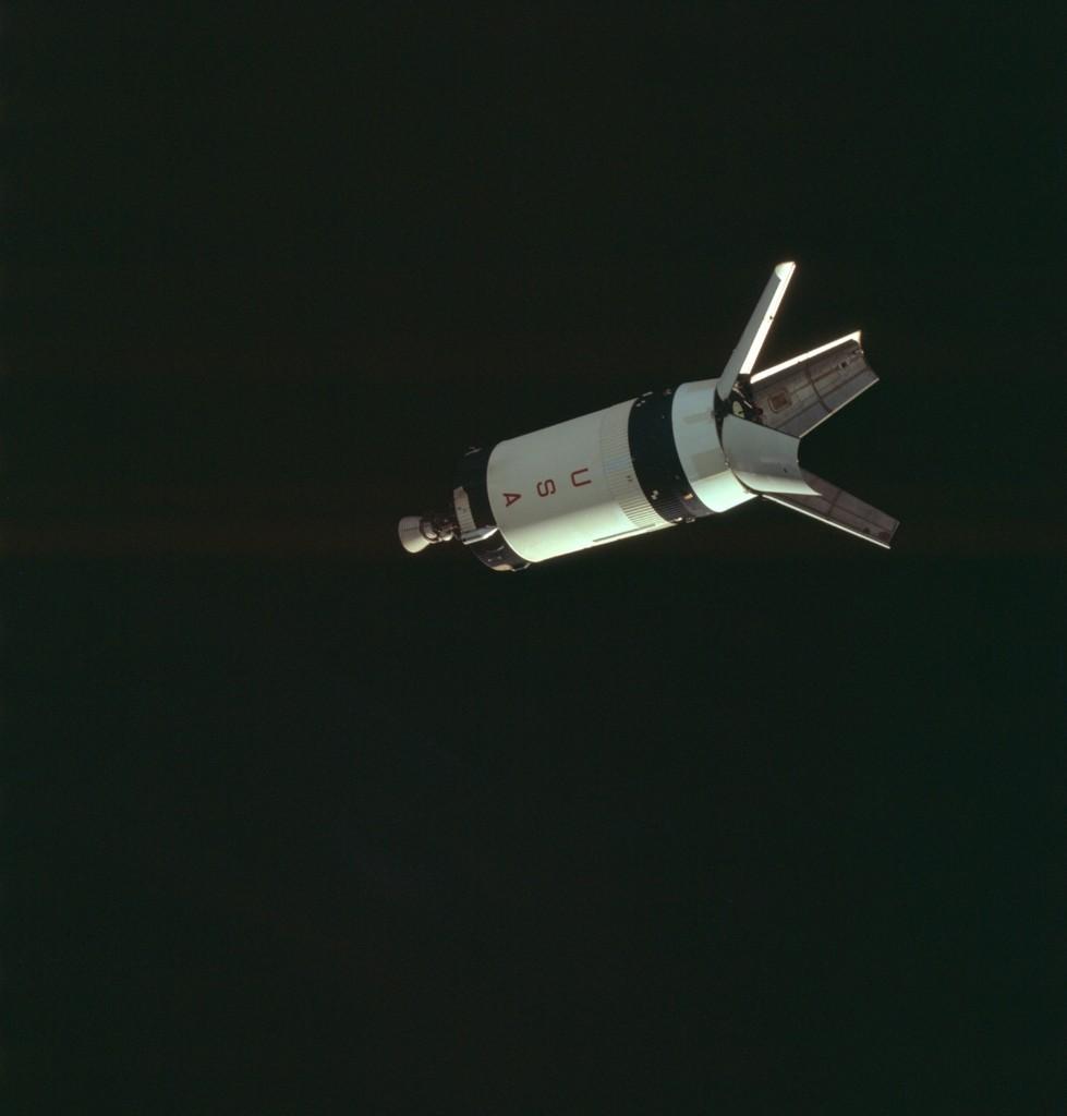 Apollo 7 Hasselblad image from film magazine 4/N - Earth Orbit. NASA Photo
