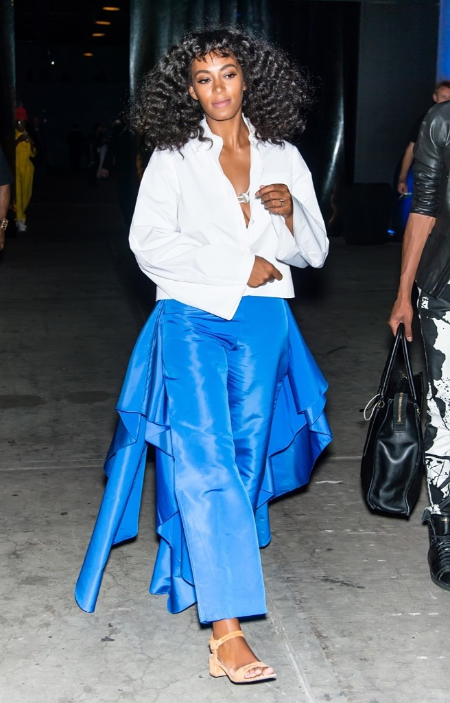 Solange Knowles arriving at the Prabal Gurung fashion show. Gilbert Carrasquillo/FilmMagic