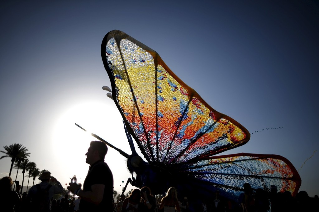 The butterfly artwork. REUTERS/Lucy Nicholson