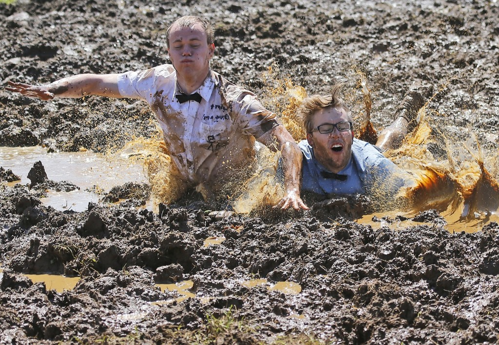 The German Mud Soccer Championships in Rieste, Germany. AP Photo/Frank Augstein