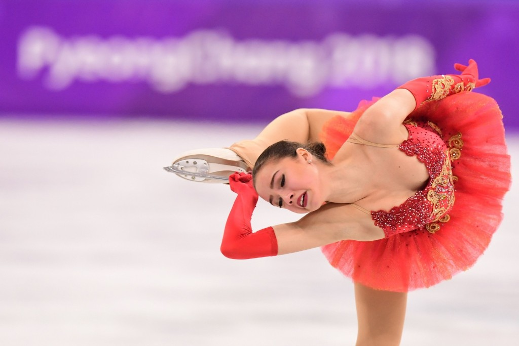 Russia's Alina Zagitova winning the gold medal in women's figure skating. ROBERTO SCHMIDT/AFP/Getty Images