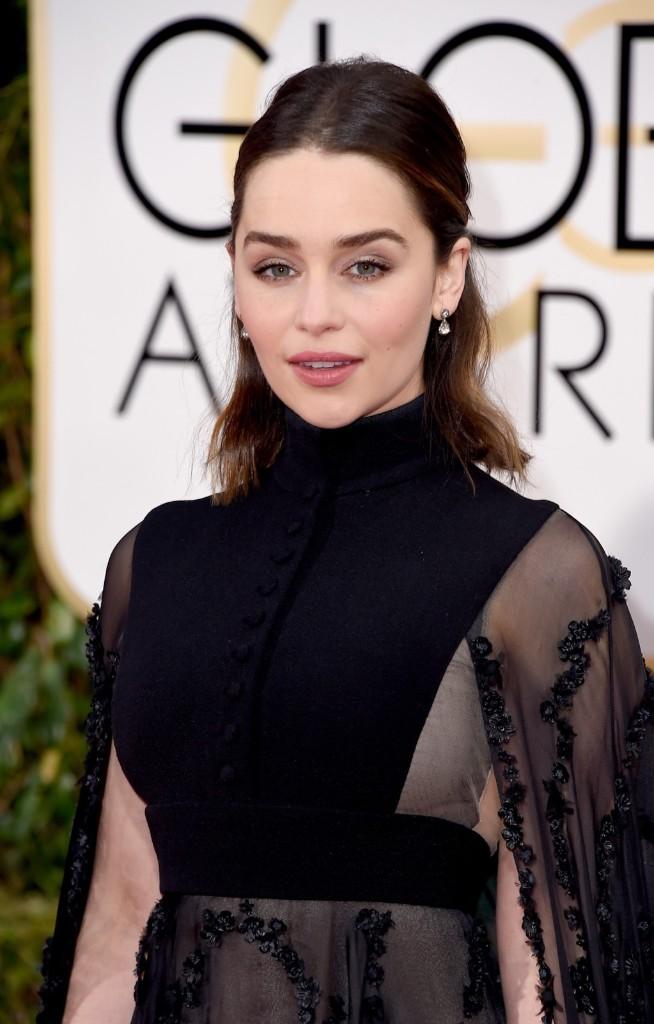 Emilia Clarke attends the 73rd Annual Golden Globe Awards. Steve Granitz/WireImage