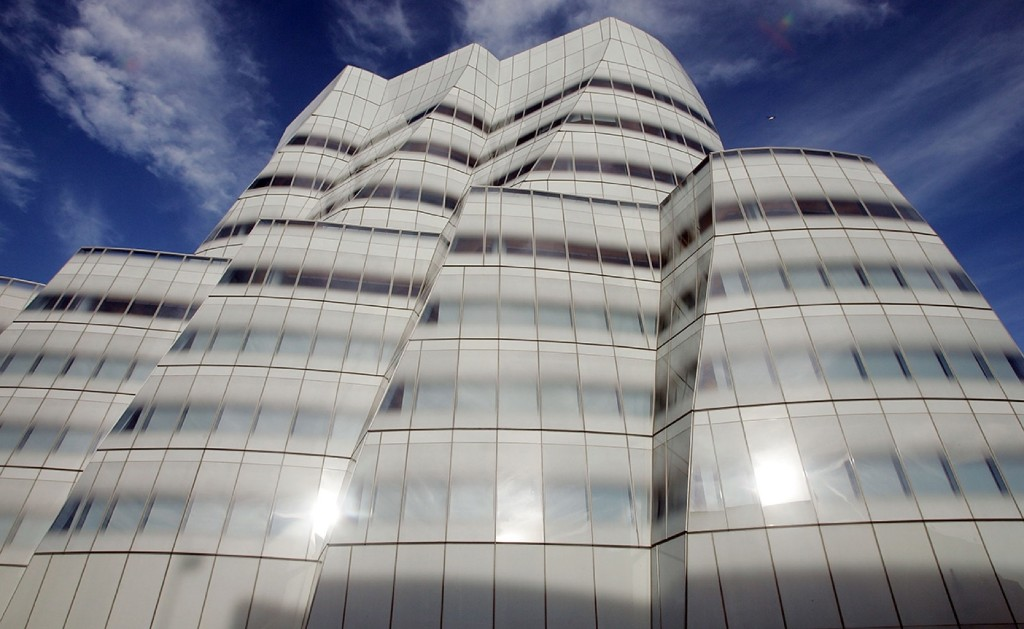 Famed architect Frank Gehry's first New York building, the IAC Building, in 2007. Mario Tama/Getty Images