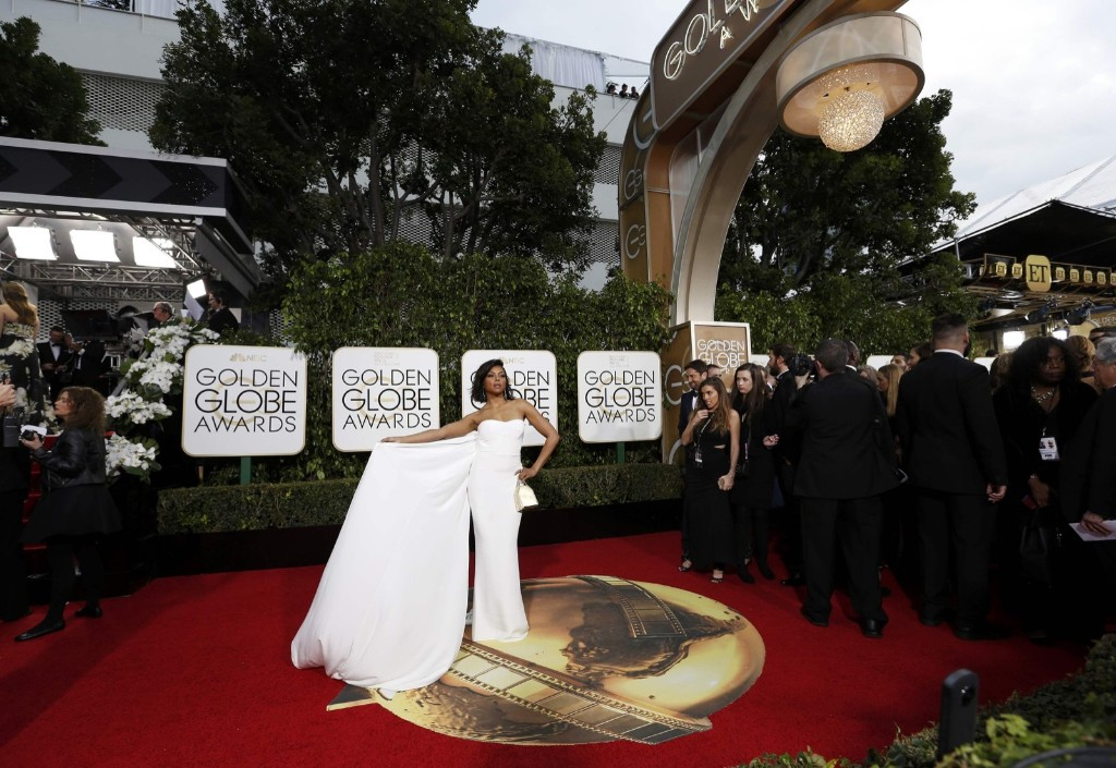 Taraji P. Henson arrives at the 73rd Golden Globe Awards in Beverly Hills. REUTERS/Mario Anzuoni
