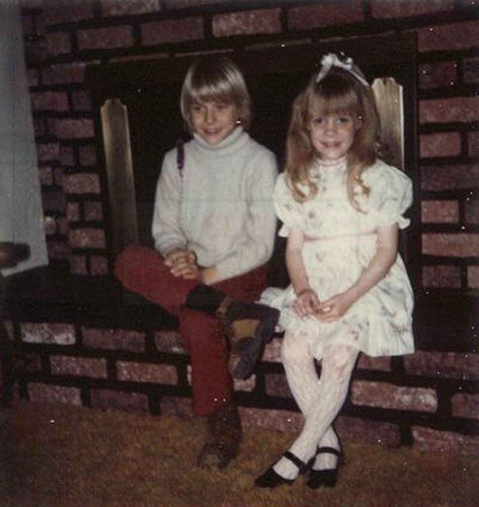 Kurt and his sister Kim at their childhood home in Aberdeen, Wash. AP Photo/Courtesy Kim Cobain