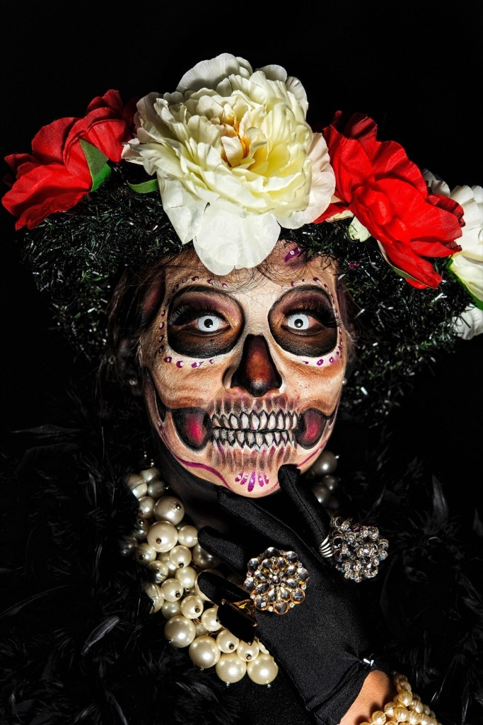 Jessica Esquivias, organizer of the Body Paint March of Catrinas. OMAR TORRES/AFP/Getty Images