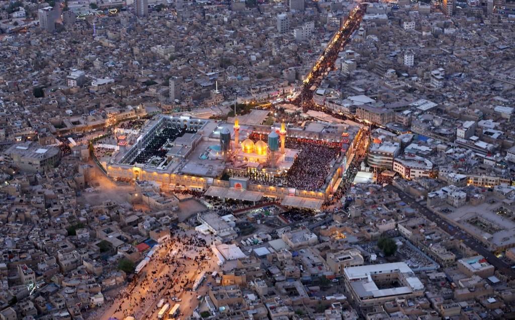 The holy Muslim Shiite shrine of Imam Moussa al-Kazim in the district of Kazimiyah, Baghdad. AP Photo/Hadi Mizban
