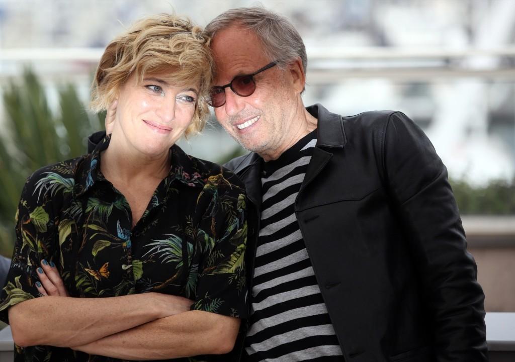 Valeria Bruni Tedeschi and Fabrice Luchini during a photo call. AP Photo/Thibault Camus
