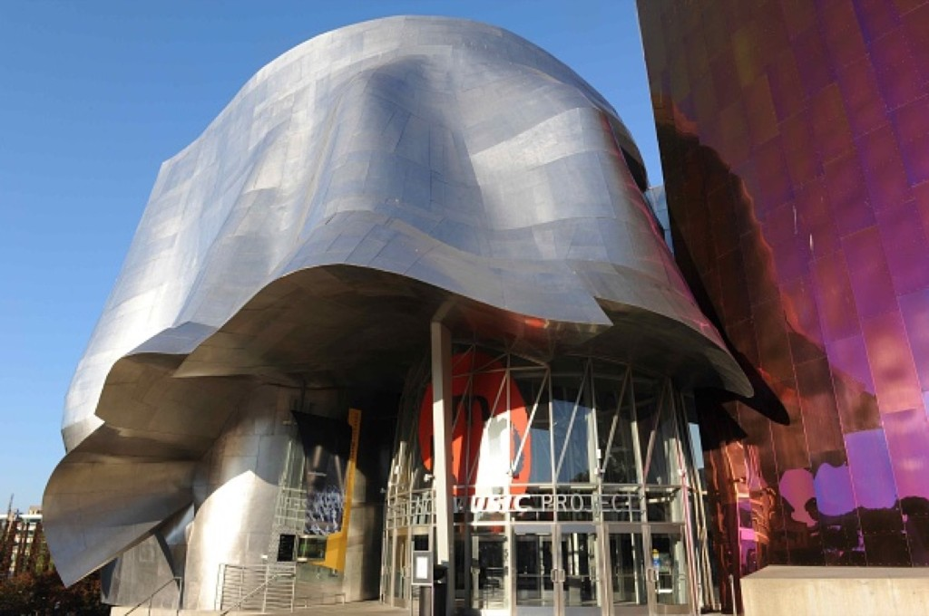 The EMP museum, formerly known as Experience Music Project and Science Fiction Museum and Hall of Fame, in Seattle. Marka/UIG via Getty Images