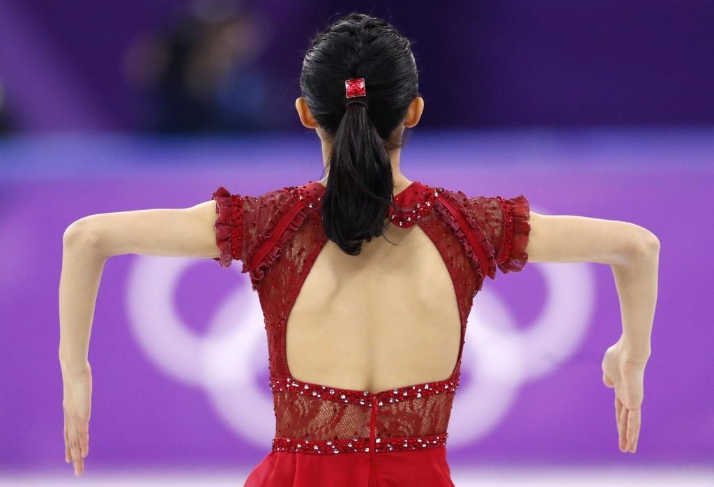 Kaori Sakamoto of Japan during the women's free skate. REUTERS/Damir Sagolj