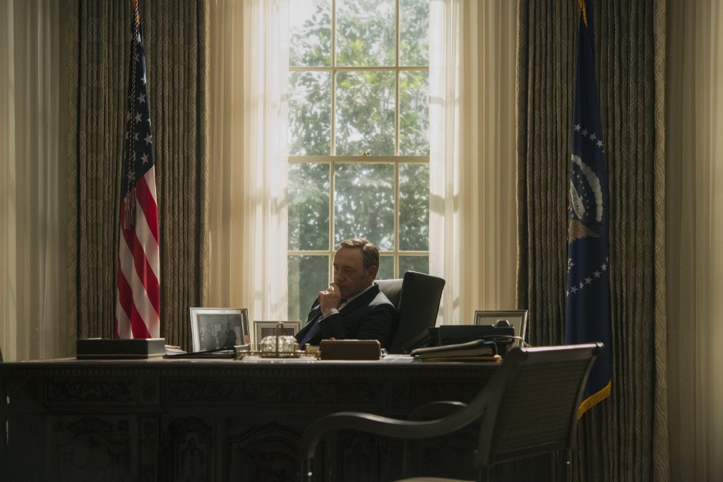 Kevin Spacey in House of Cards, Season 3. David Giesbrecht/Netflix