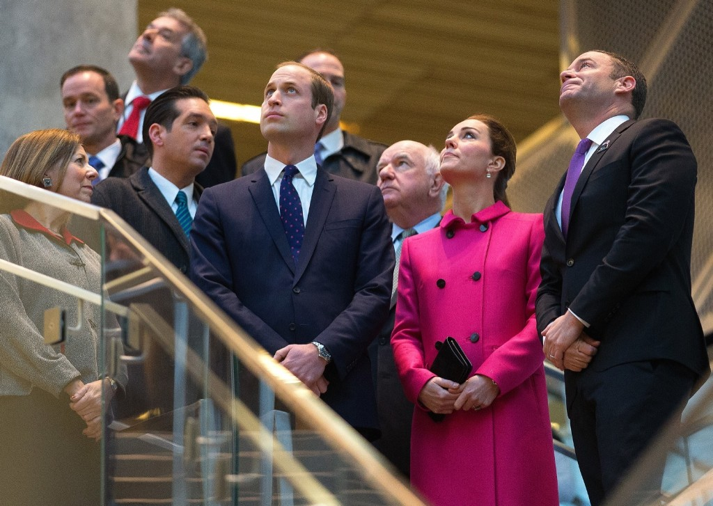 Prince William, Duke of Cambridge and Catherine, Duchess of Cambridge visit the National September 11 Memorial & Museum in New York, Tuesday. Doug Mills-Pool/Getty Images