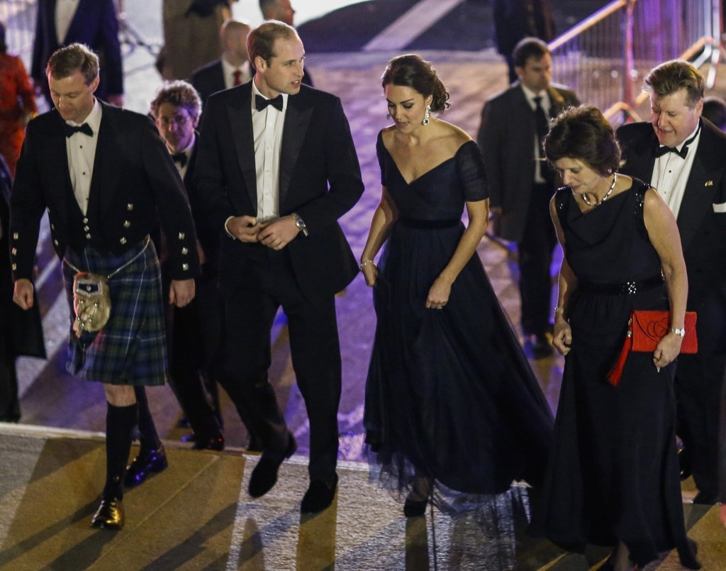 Prince William, Duke of Cambridge and Catherine, Duchess of Cambridge arrive at Metropolitan Museum of Art to attend the St. Andrews 600th Anniversary Dinner, Tuesday in New York City. The event is created to support scholarships and bursaries for students from under-privileged communities and investment in the university's media and science faculties, sports centers and lectureship in American literature. Eduardo Munoz Alvarez-Pool/Getty Images