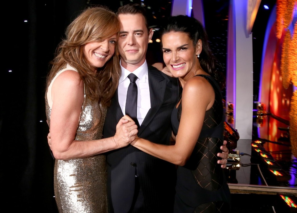 Allison Janney, Colin Hanks and Angie Harmon at the Critics' Choice Television Awards in Beverly Hills. Christopher Polk/Getty Images for Critics' Choice Television Awards