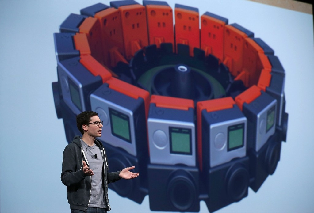 Google vice president of product management Clay Bavor announces 'Jump' during the 2015 Google I/O conference, Thursday, in San Francisco. Justin Sullivan/Getty Images