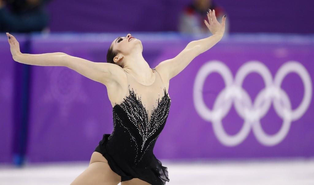 Kaetlyn Osmond of Canada skating to a bronze medal. REUTERS/Damir Sagolj