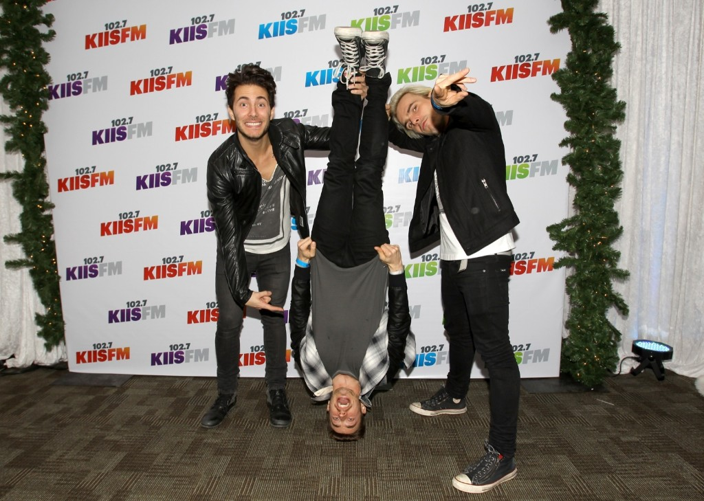 Louis Vecchio, David Boyd and Soren Hansen of New Politics attend KIIS FM's Jingle Ball 2013 in Los Angeles. Rich Polk/Getty Images for Clear Channel