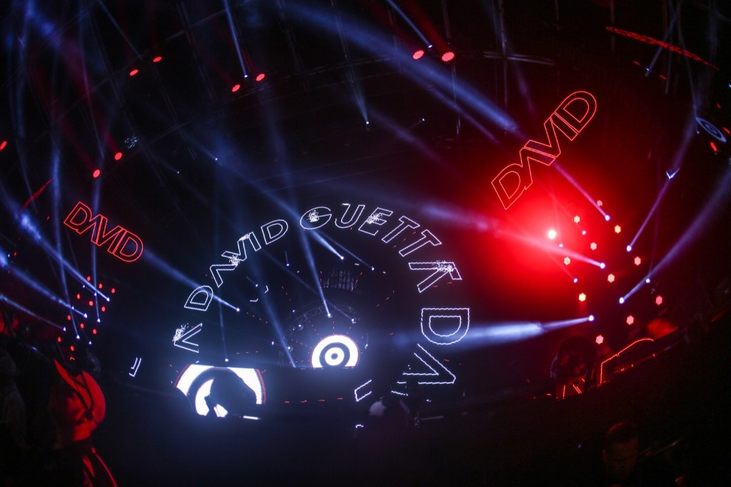 David Guetta performs on Sunday. Rich Fury/Invision/AP