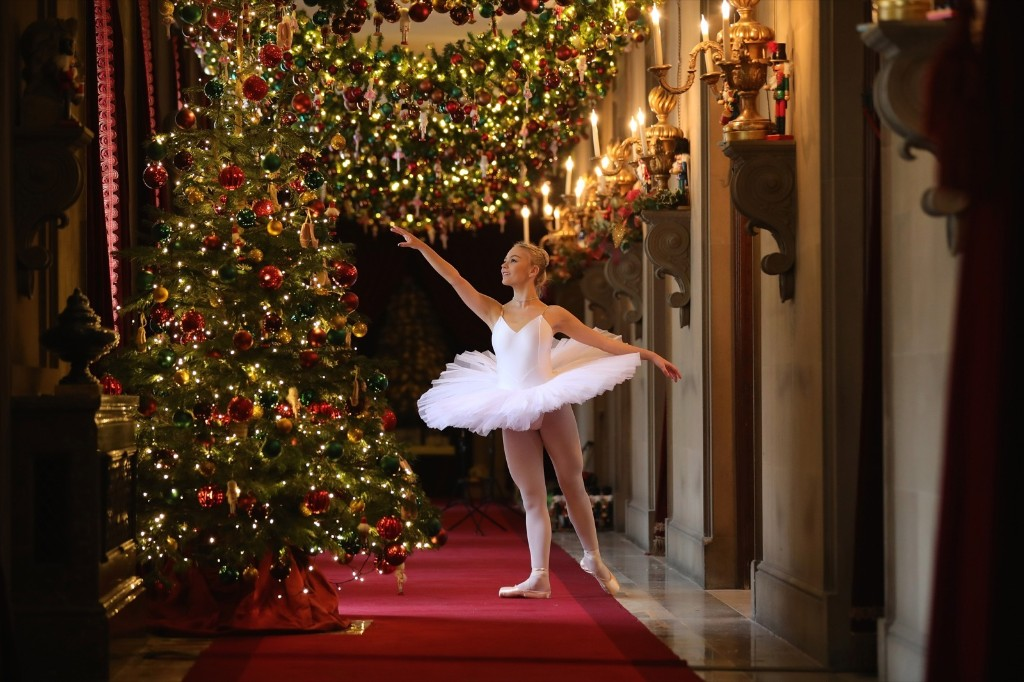 Ballet dancer Daisy Kerry, 17, from The Claire Dobinson School of Dance, recreates The Nutcracker at Chatsworth House, England. Christopher Furlong/Getty Images