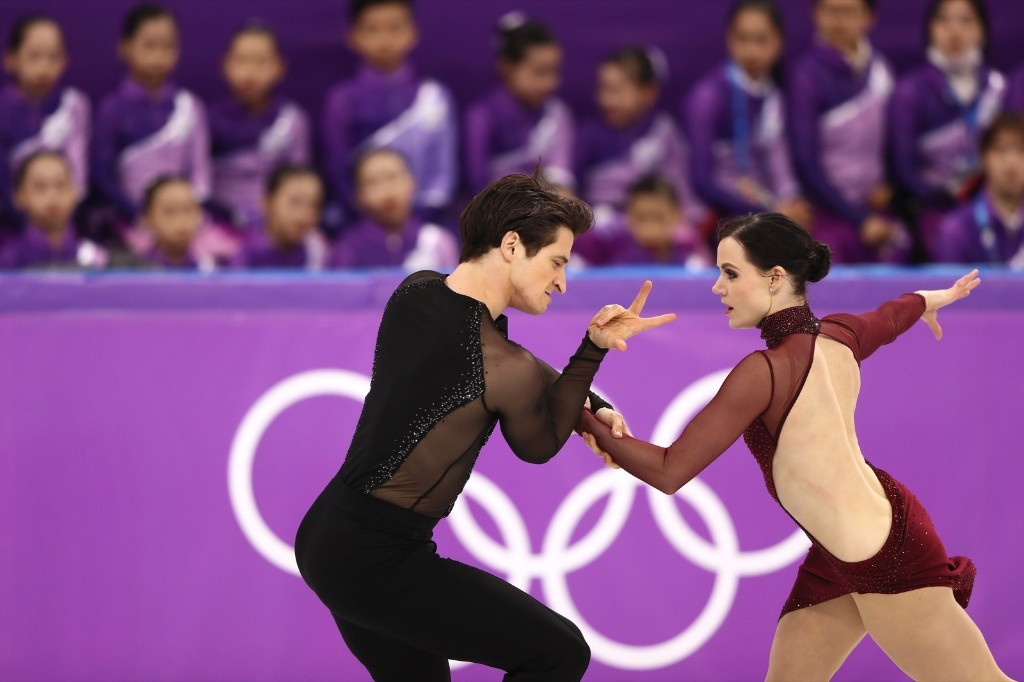 Tessa Virtue and Scott Moir of Canada winning over the crowd and judges. Jamie Squire/Getty Images
