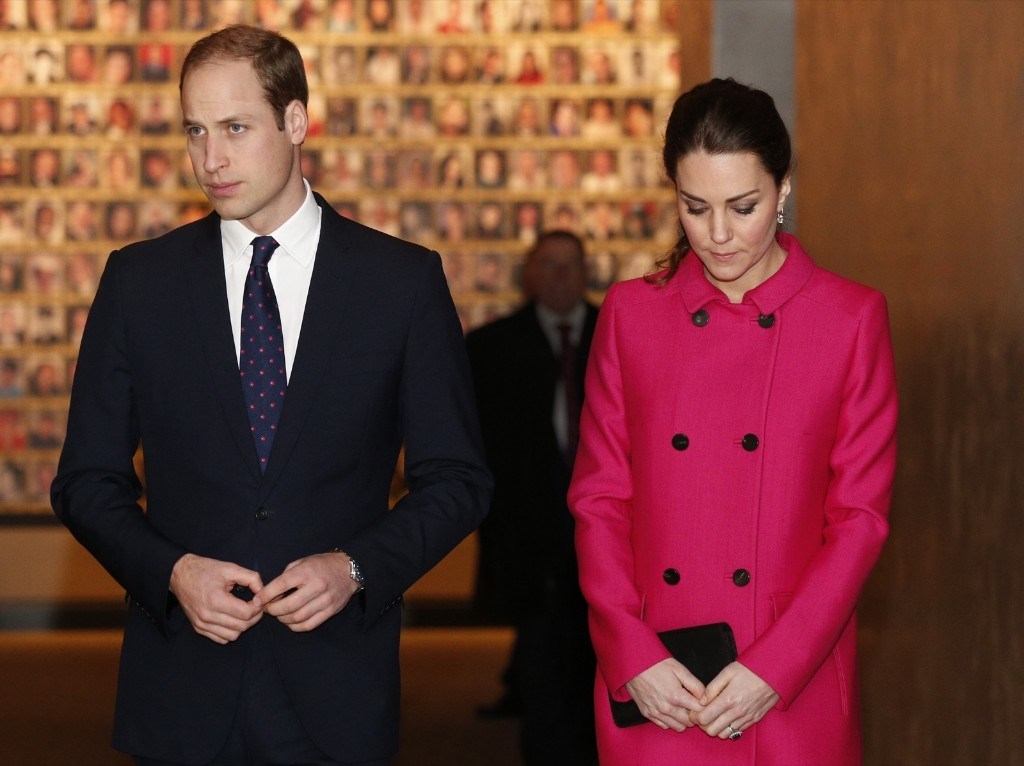 Prince William, Duke of Britain's Prince William, Duke of Cambridge and Catherine, Duchess of Cambridge tour the National September 11 Memorial and Museum in New York, Tuesday. Jonathan Brady-Pool/Getty Images