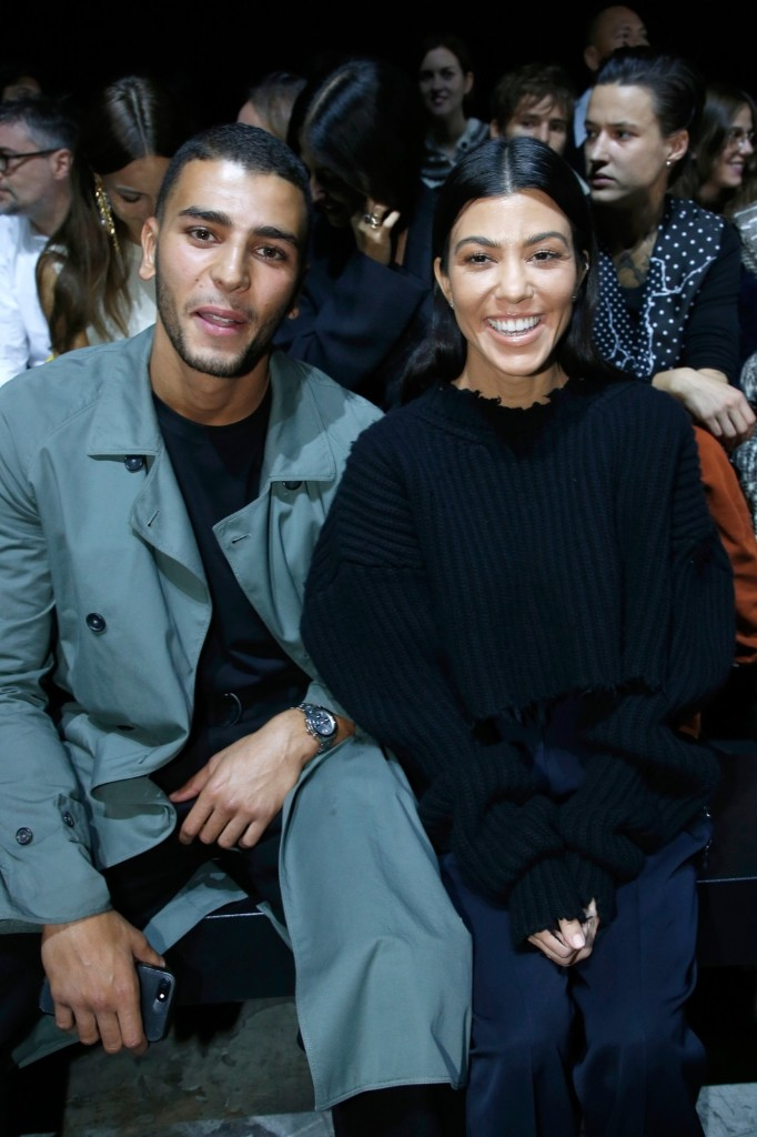 Kourtney Kardashian and her companion Younes Bendjima attend the Haider Ackermann show. Bertrand Rindoff Petroff/Getty Images