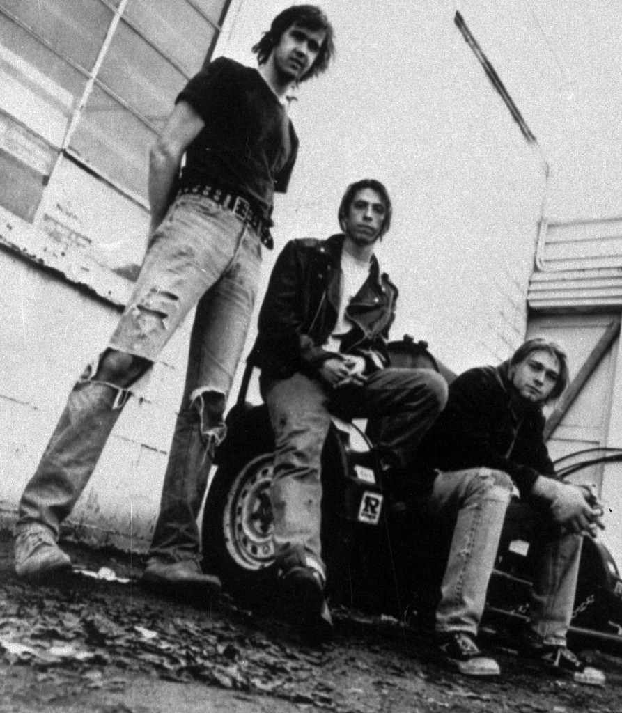 Nirvana in 1991: Krist Novoselic, David Grohl, and Kurt Cobain. AP Photo/Chris Cuffaro