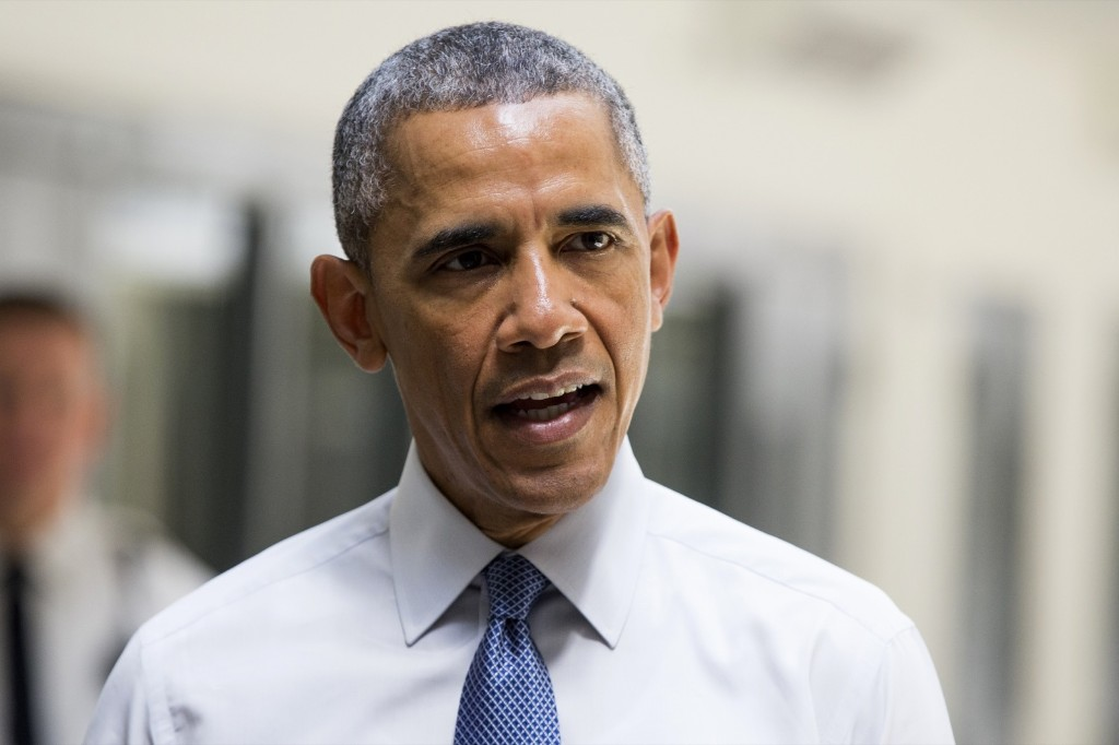 President Barack Obama speaks at the El Reno Federal Correctional Institution, in El Reno, Okla., Thursday. AP Photo/Evan Vucci