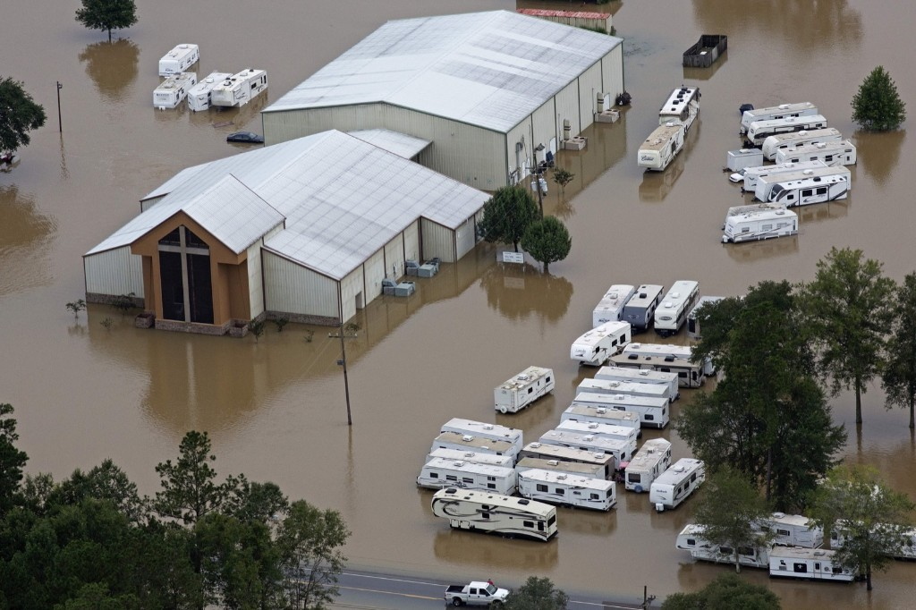 A flooded church in Hammond, La., Saturday. AP Photo/Max Becherer