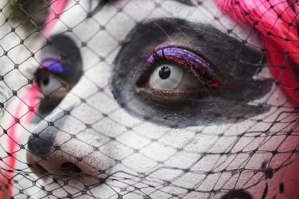 A woman dressed in a Catrina costume attends the annual Catrinas parade, as part of Day of the Dead celebrations in Mexico City. AP Photo/Christian Palma