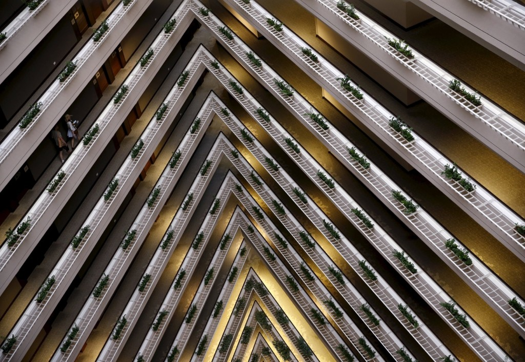 Interior of the Pan Pacific Hotel in Singapore. REUTERS/Edgar Su
