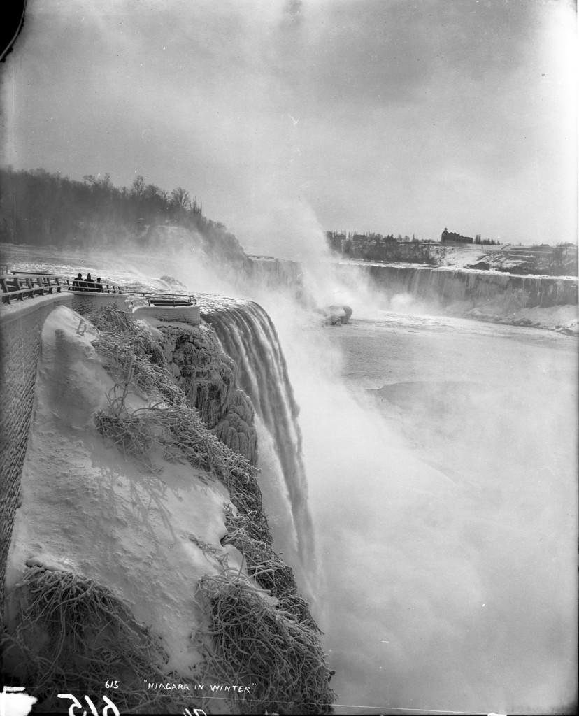 Niagara Falls, New York in winter, circa 1890. J.S Johnston/The New York Historical Society/Getty Images