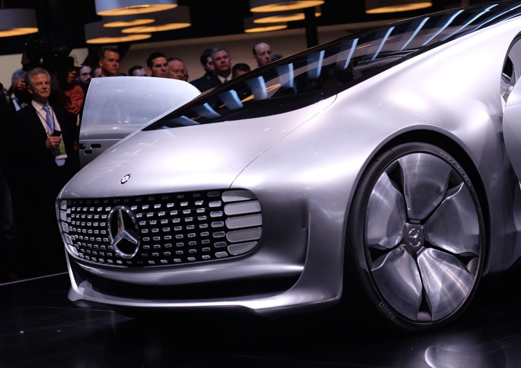 Mercedez-Benz reveals their F015 autonomous electric car at The North American International Auto Show in Detroit, Monday. Jewel Samad/AFP/Getty Images