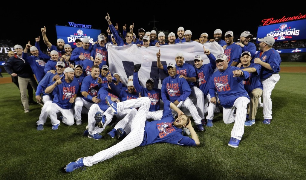 The National League pennant winners, the Chicago Cubs. AP Photo/David J. Phillip