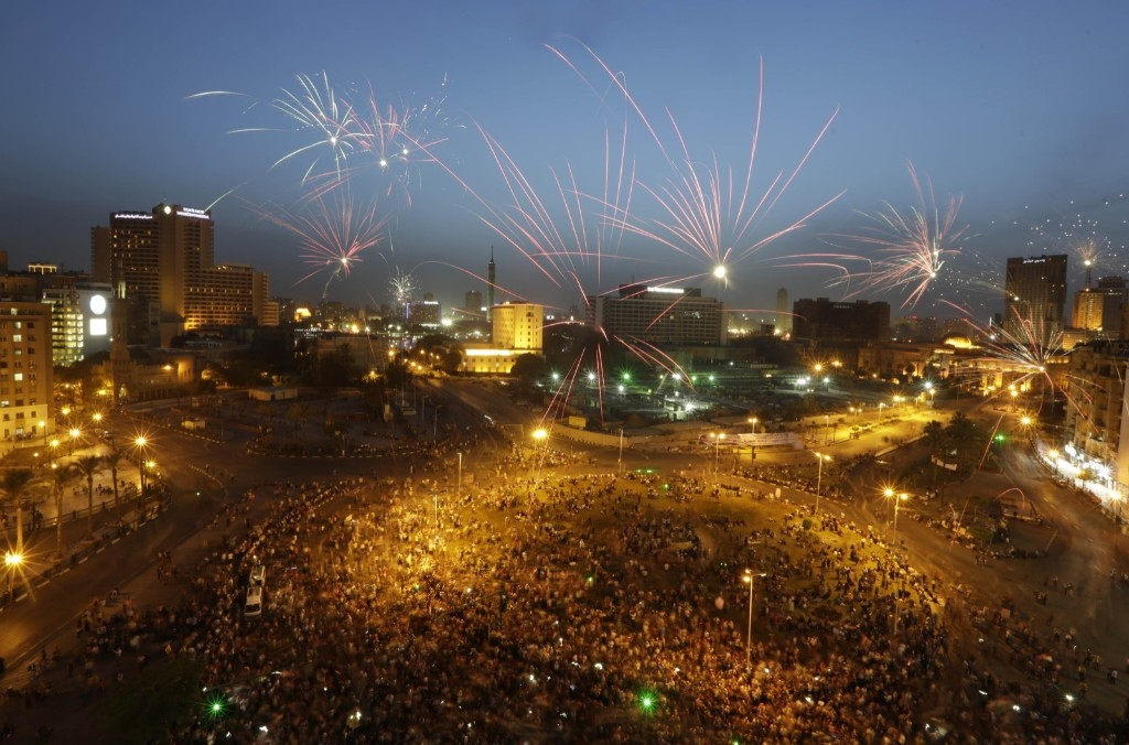 Supporters of Abdel-Fattah el-Sissi during celebration at Tahrir Square in Cairo. AP Photo/Amr Nabil