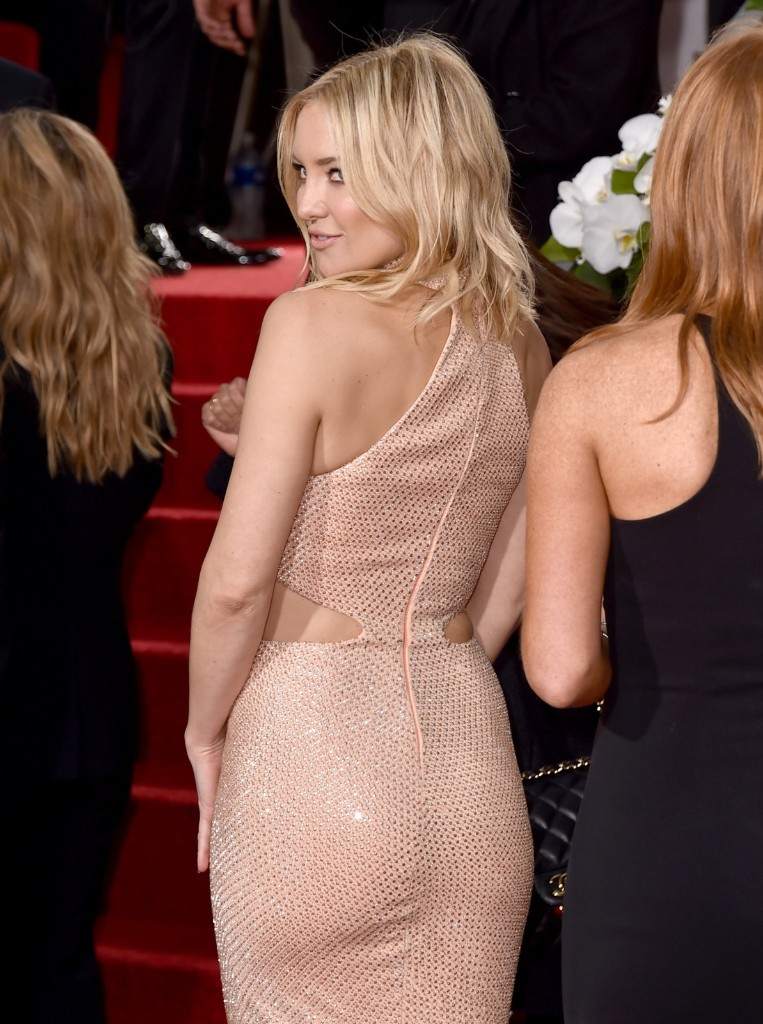 Kate Hudson arrives at the 73rd annual Golden Globe Awards. Jordan Strauss/Invision/AP